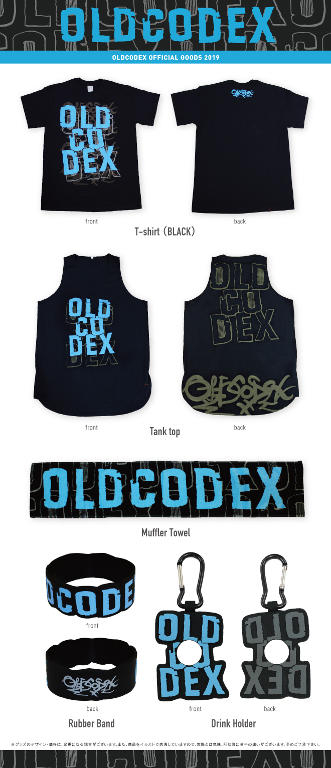"OLDCODEX Tour ""GROWTH TO BE ONE"" official2019 performances OFFICIAL GOODS"